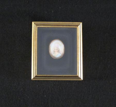 Miniature portrait on Ivory, c.1890