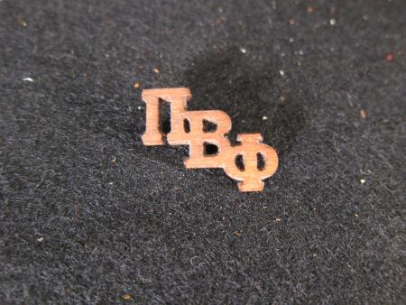 Pi Beta Phi Wood Pin, c.1930