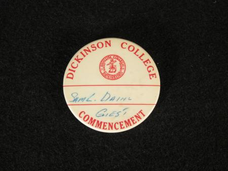 Dickinson Commencement Guest Button