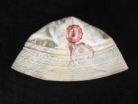 White Hat with College Seal