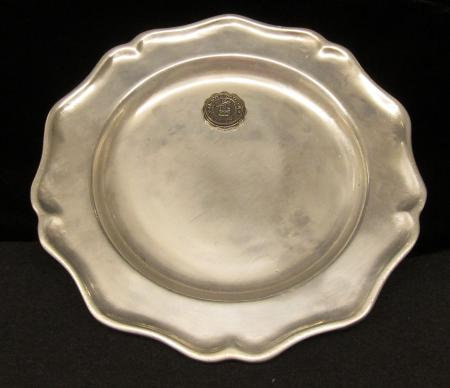 Pewter Plate with College Seal
