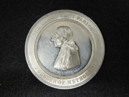 Methodist Church Centennial medal, 1866