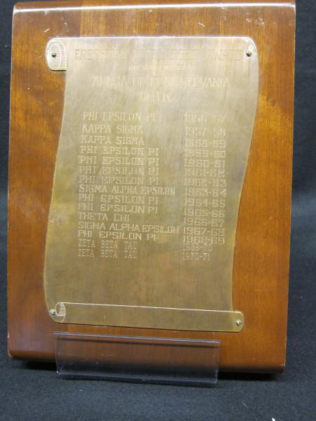 Phi Beta Kappa plaques, 1956-1971