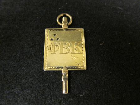 Phi Beta Kappa key, 1898