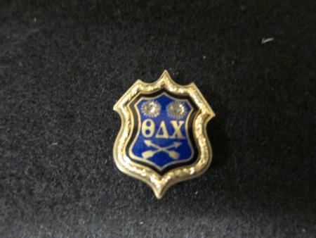 Theta Delta Chi fraternity pin, 1862