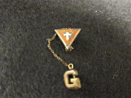 Cross and Initial Pin