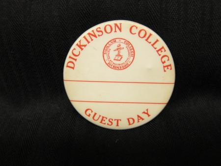Dickinson College Guest Day button, 1937