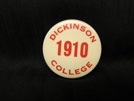Dickinson College button, 1910