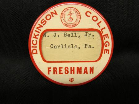 Dickinson College button, c.1930