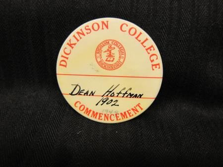 Commencement button, 1949