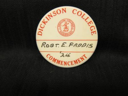 Commencement button, 1924