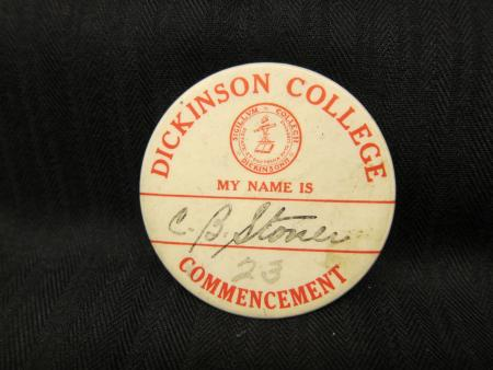 Commencement button, 1923
