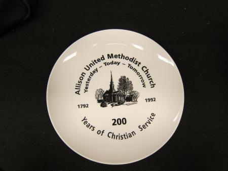 Allison Memorial Church plate, 1992