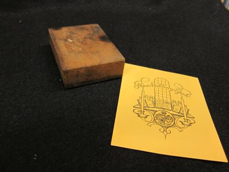Bookplate Engraving Block