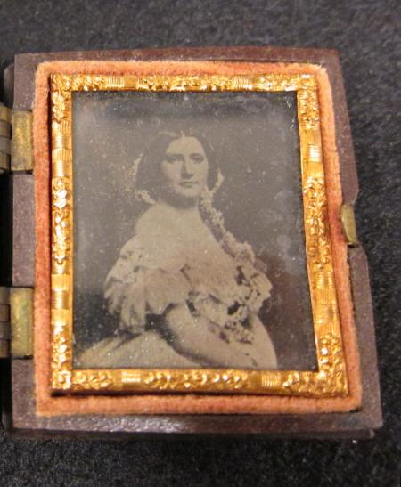 Harriet Lane Tintype Case Interior