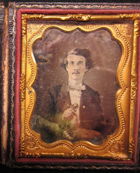 Daguerreotype of Samuel Cushman Caldwell, 1858