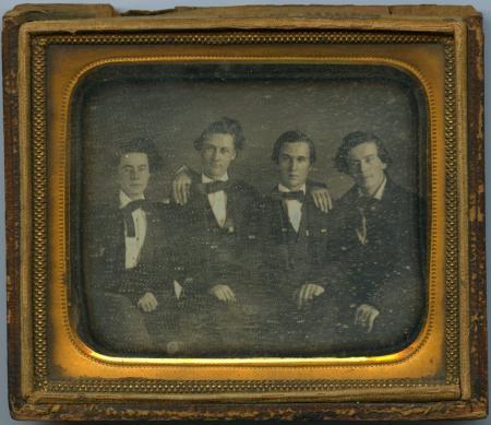 Daguerreotype of Four Students, c.1855