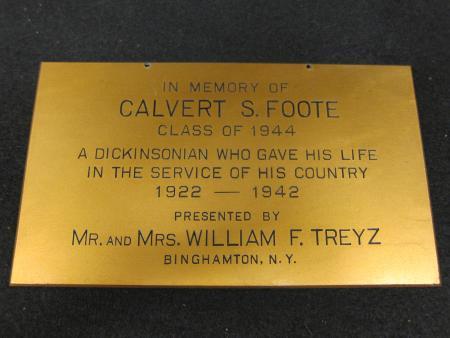 Calvert S. Foote Plaque