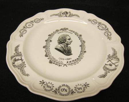 Joseph Priestley Commemorative Plate