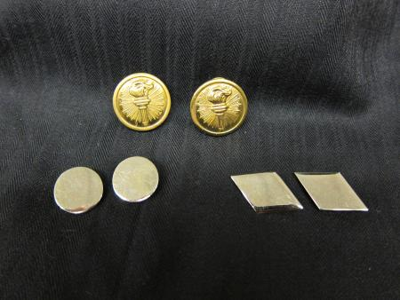 ROTC pins and patches, c.1955