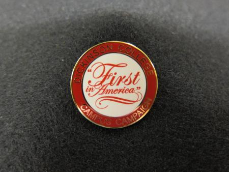 """First in America"" pin, 2006"