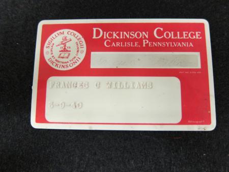 Frances Williams' ID card
