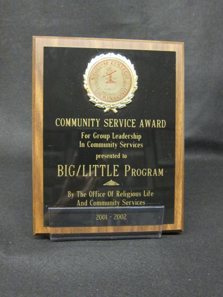 Big-Little Program plaque, 2001-2002