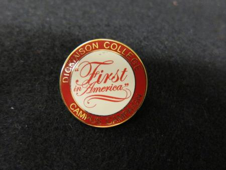 """First in America"" pin, 2008"