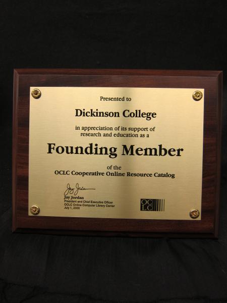 OCLC plaque, 2000
