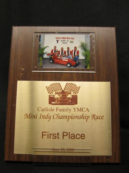 Mini Indy plaque, 2000