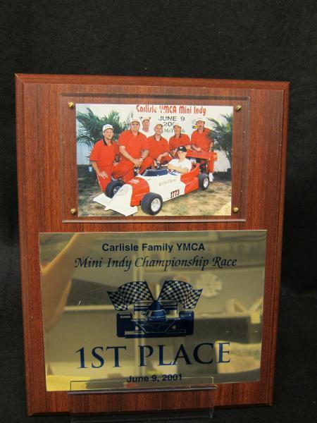 Mini Indy plaque, 2001