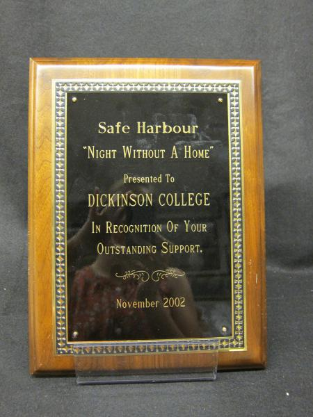 Safe Harbour plaque, 2002