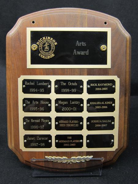 Arts Award plaque, 1994-2007