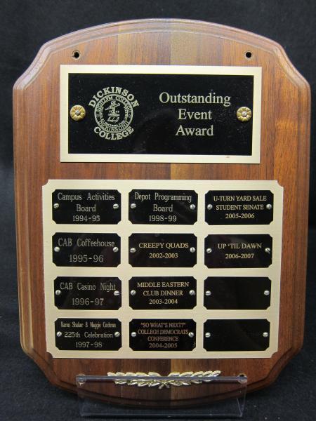 Outstanding Event Award plaque, 1994-2007