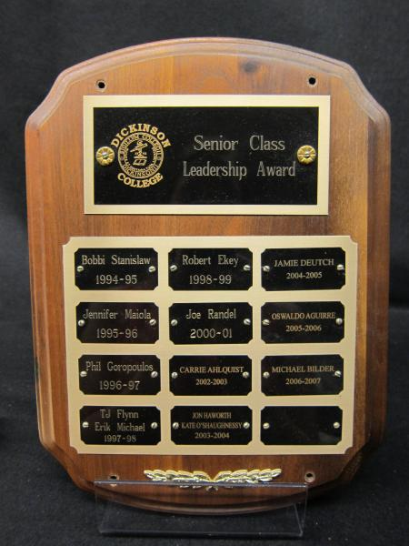 Senior Class Leadership Award plaque, 1994-2007