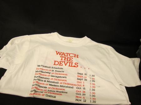 Football Schedule t-shirt, front