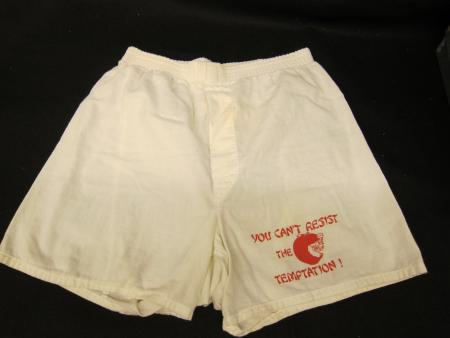 Adams Hall boxer shorts, front
