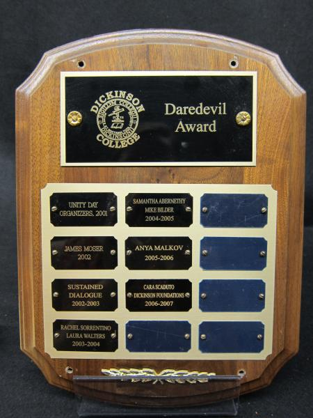 Daredevil Award plaque, 2001-2007