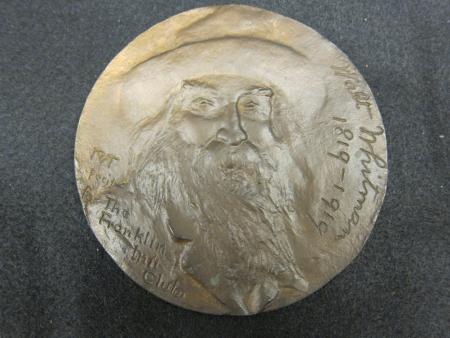Walt Whitman Commemorative medal