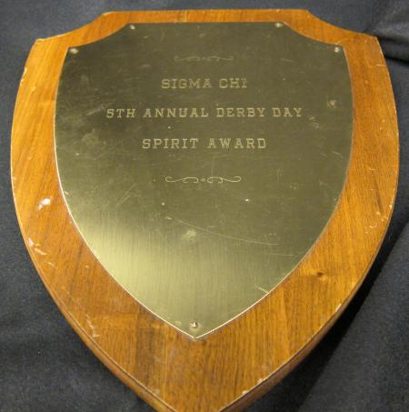Sigma Chi Derby Day Plaque, 1969