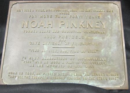 Noah Pinkney Plaque, 1951