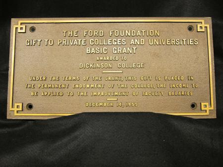 Ford Foundation Plaque, 1955