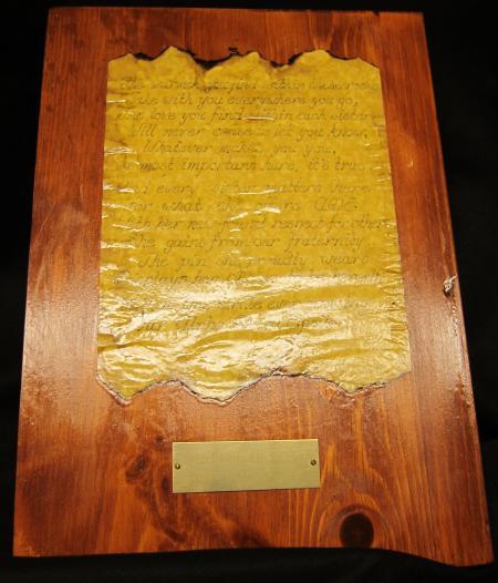 Gamma Phi Beta Plaque, c.1980