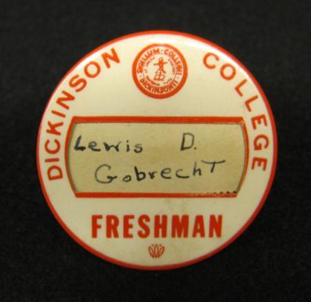 Lewis Gobrecht's Freshman Button, 1951