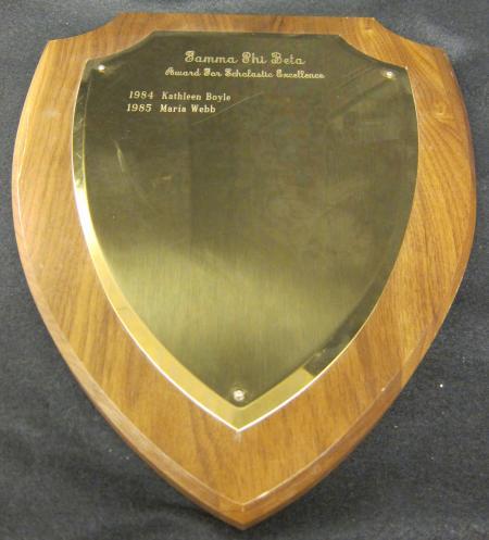 Gamma Phi Beta Scholastic Excellence Award, 1984