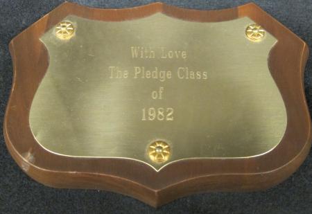 Gamma Phi Beta 1982 Pledge Class Plaque, 1982