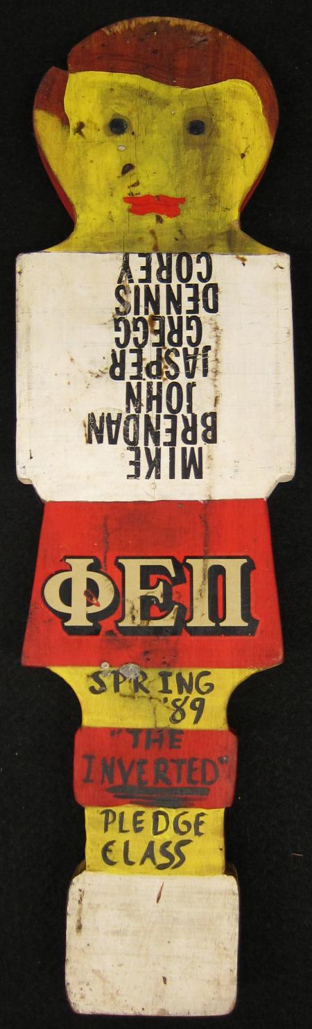 Phi Epsilon Pi Pledge Class Paddle, 1989