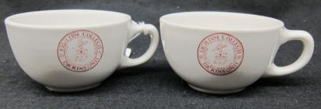 Two Dickinson Dining Services Tea cups, c.1970