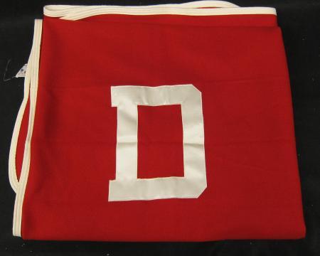 """Red """"D"""" Varsity Letter Blanket, 1960"""