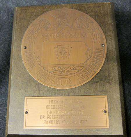 Fred Petty PMEA Plaque, 1977